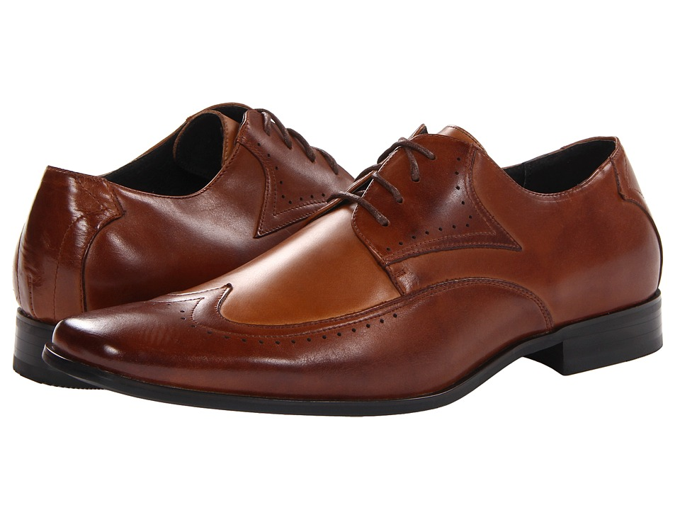 Stacy Adams Atticus (Cognac & Taupe Leather) Men