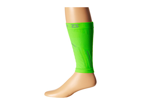 Zensah - Reflective Compression Leg Sleeves (Neon Green) Athletic Sports Equipment