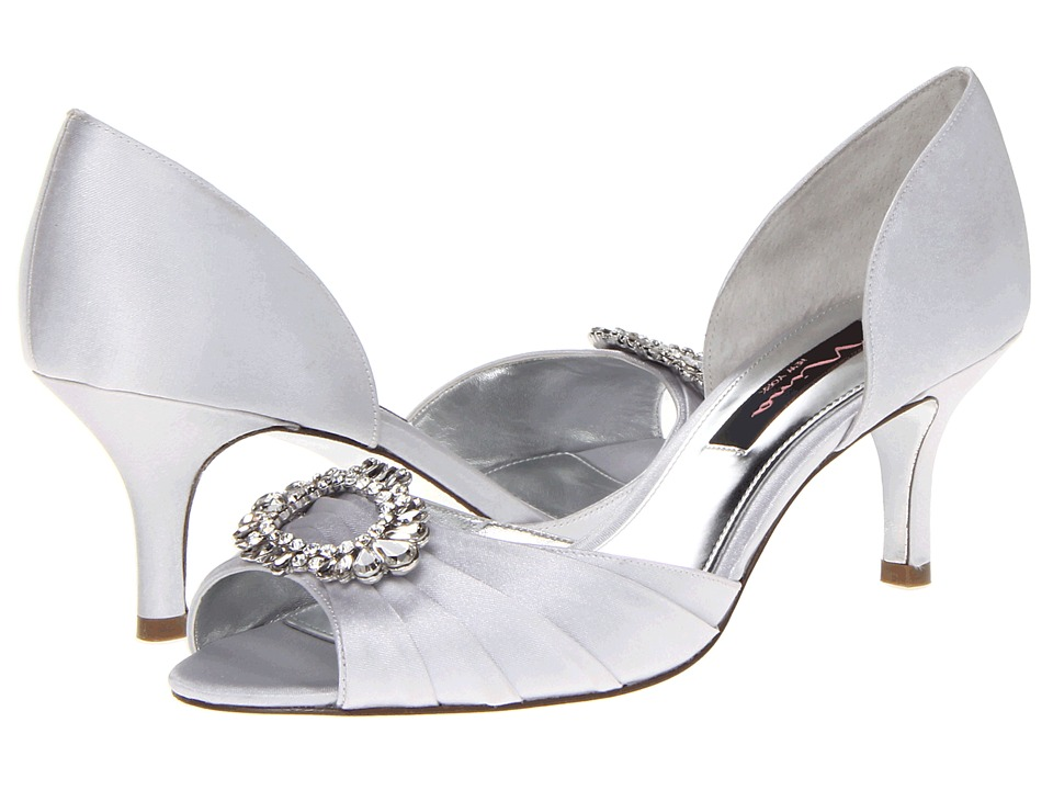 Nina - Crystah (Silver Satin) High Heels