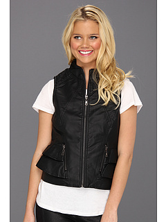 SALE! $16.99 - Save $53 on dollhouse PU Peplum Vest (Black) Apparel - 75.73% OFF $69.99