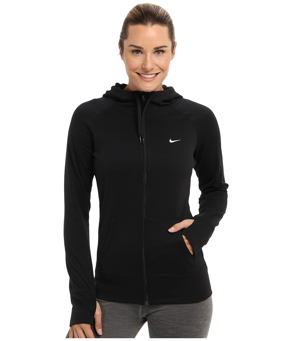 Nike - All Time Full Zip Hoodie (Black/Black/White Multi Snake) Women's Sweatshirt