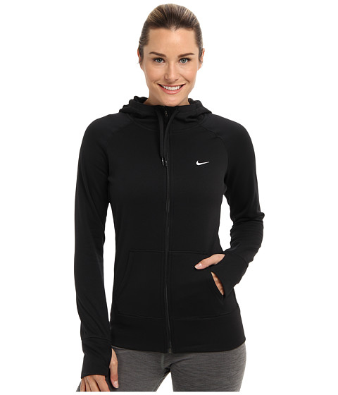 Nike - All Time Full Zip Hoodie (Black/Black/White Multi Snake) Women
