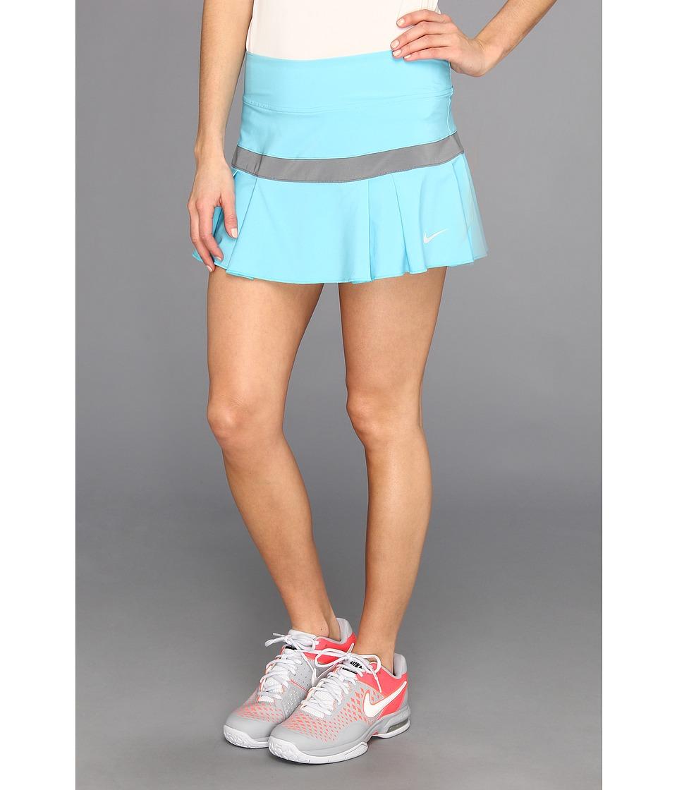 Nike - Woven Pleated Skort (Gamma Blue/Cool Grey/Dusty Grey) Women