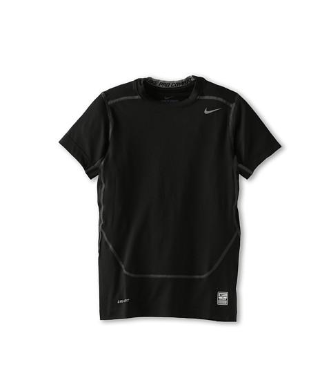 Nike Kids - Short-Sleeve Core Compression Top (Little Kids/Big Kids) (Black/Cool Grey) Boy