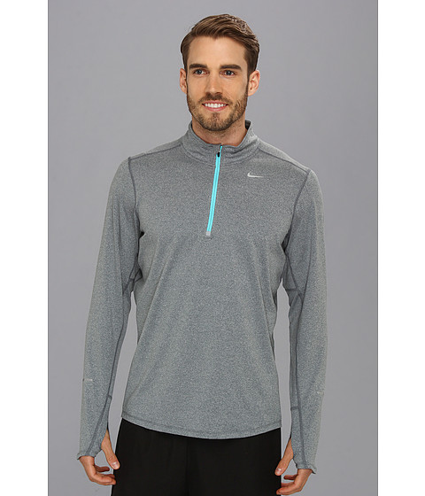Nike - Element Half-Zip (Dark Armory Blue/Heather/Gamma Blue/Reflective Silver) Men