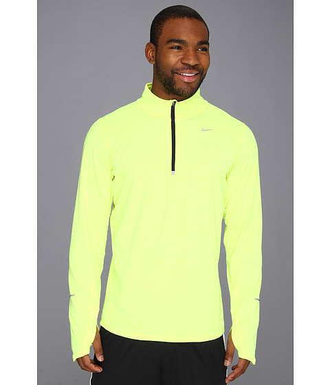 Nike - Element Half-Zip (Volt/Black/Reflective Silver) Men
