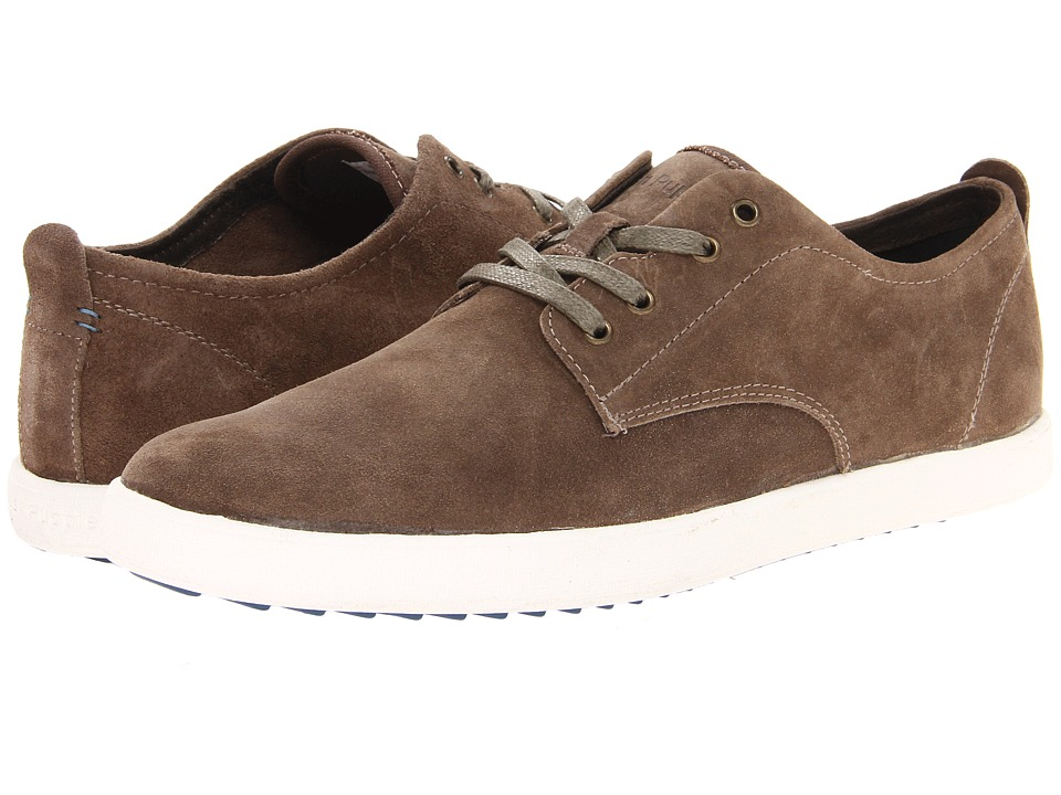 Hush Puppies - Roadside Oxford PL (Taupe Suede) Men's Slip on Shoes