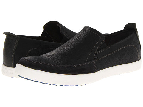 Hush Puppies - Roadside Slip On MT (Black Leather) Men