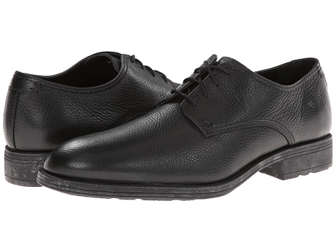 Hush Puppies - Plane Oxford PL (Black Leather) Men's Lace up casual Shoes