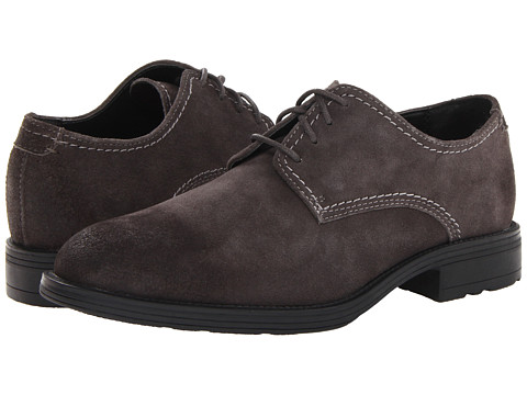 Hush Puppies - Plane Oxford PL (Charcoal Suede) Men