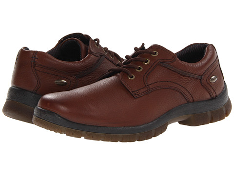 Hush Puppies - Outclass Oxford PL (Dark Brown WP Leather) Men