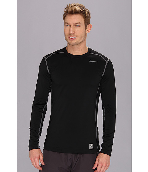 Nike - Hyperwarm DRI-FIT Fitted Crew 2.0 (Black/Cool Grey/Cool Grey) Men's Long Sleeve Pullover