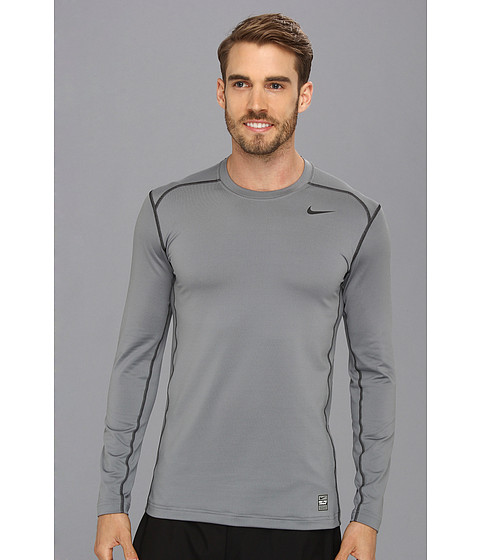 Nike - Hyperwarm DRI-FIT Fitted Crew 2.0 (Cool Grey/Black/Black) Men