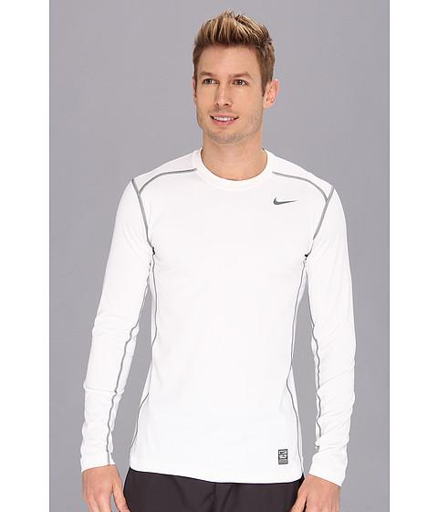 Nike - Hyperwarm DRI-FIT Fitted Crew 2.0 (White/Cool Grey/Cool Grey) Men