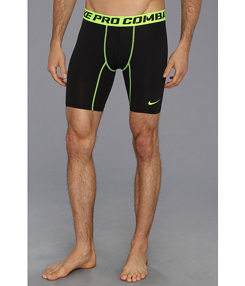 Nike - Pro Core Compression 6 Short 2.0 (Black/Volt) Men's Shorts