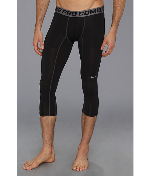 Nike - Pro Combat Core Compression 3/4 Tight (Black/Cool Grey) Men's Workout