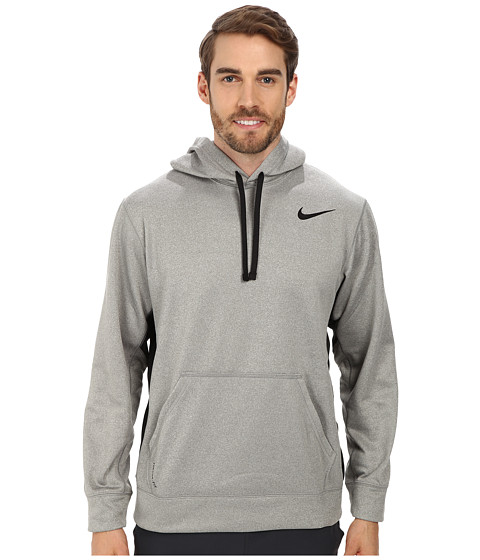 Nike - KO Hoodie 2.0 (Dark Grey Heather/Black/Black) Men
