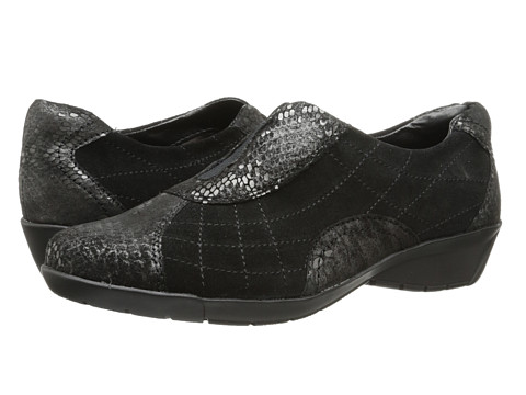 Bella-Vita - Sigma (Black Suede/Print) Women's Slip on Shoes