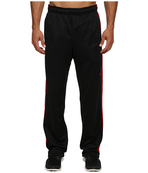 Nike - KO Polyester Fleece Pant (Black/Gym Red/Gym Red) Men's Fleece