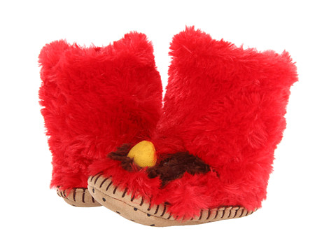 Hatley Kids - Fuzzy Fleece Slippers (Toddler/Little Kid) (Cardinal) Kids Shoes