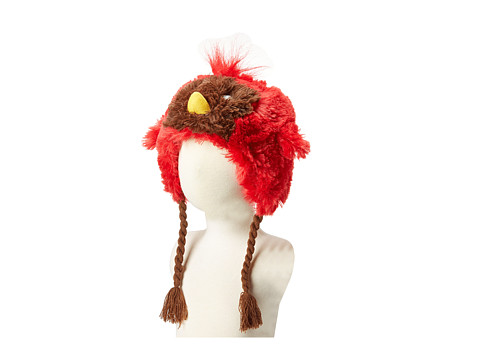 Hatley Kids - Fuzzy Animal Hats (Cardinal Fuzzy Fleece) Traditional Hats