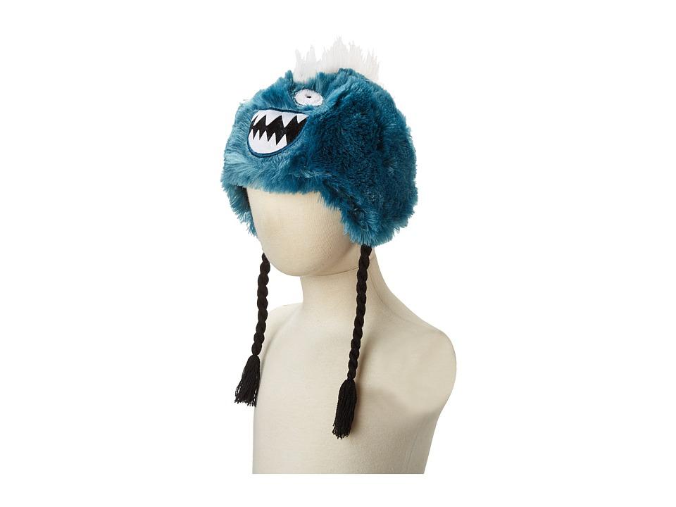 Hatley Kids - Fuzzy Animal Hats (Ice Monster Fuzzy Fleece) Traditional Hats