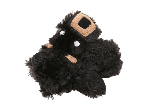 Hatley Kids - Fuzzy Animal Mitts (Toddler/Little Kid) (Black Bear Fuzzy Fleece) Extreme Cold Weather Gloves