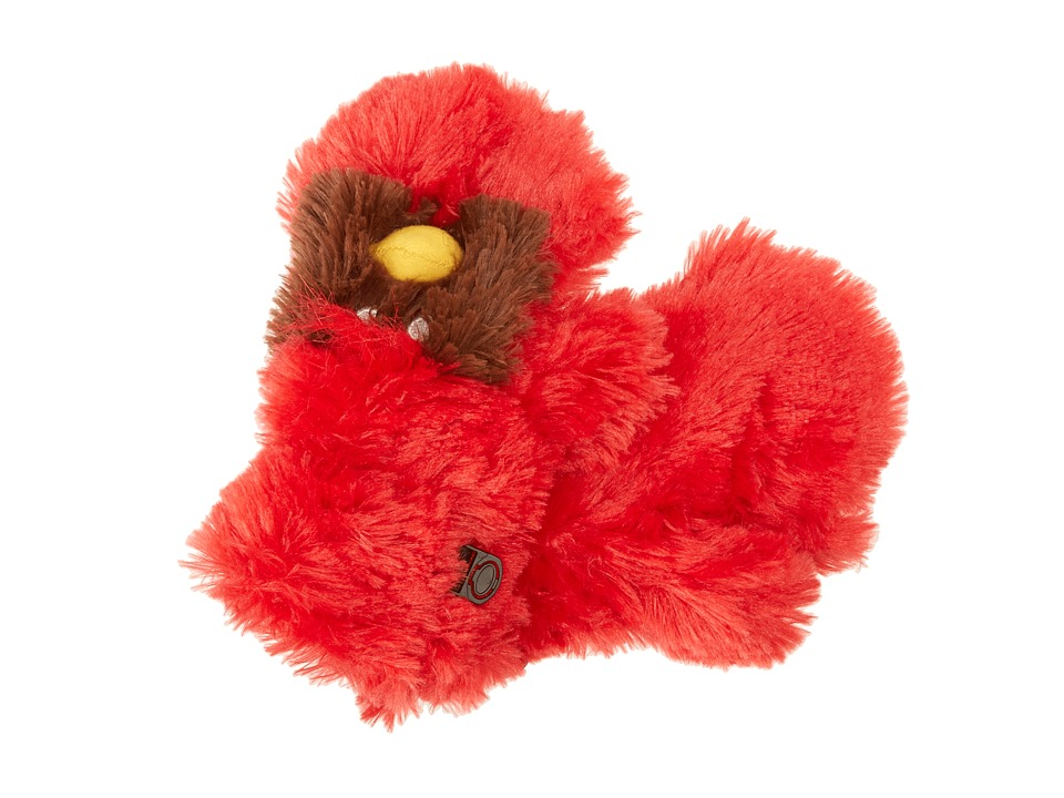 Hatley Kids - Fuzzy Animal Mitts (Toddler/Little Kid) (Cardinal Fuzzy Fleece) Extreme Cold Weather Gloves