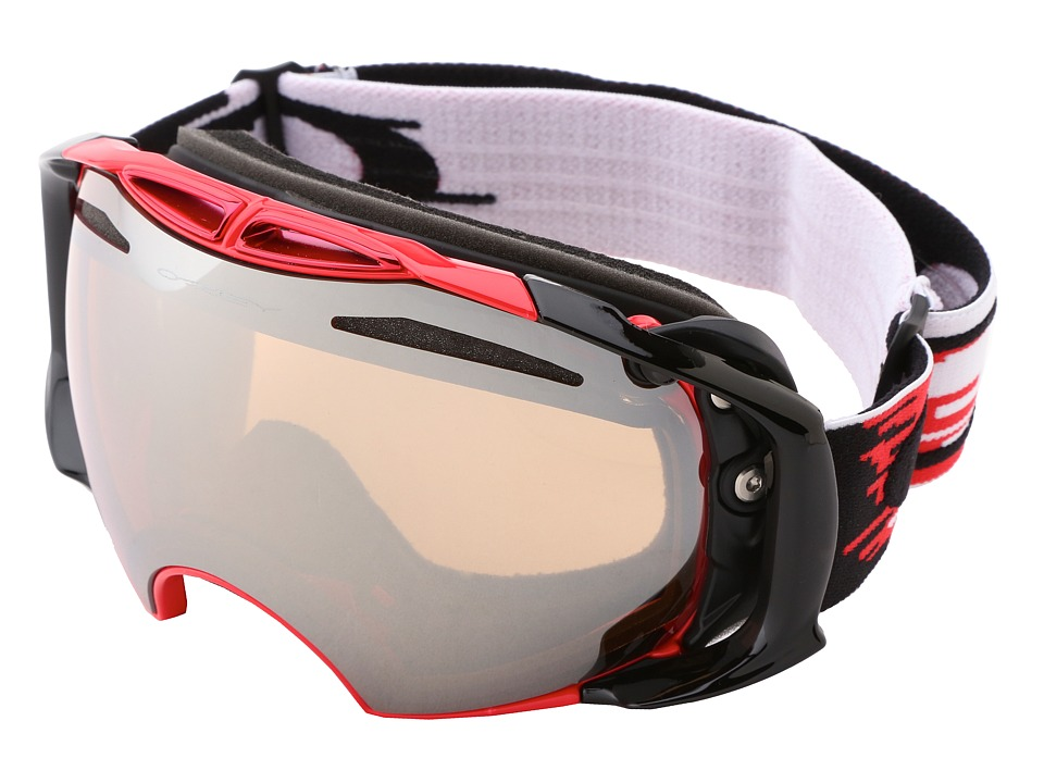 Oakley - Airbrake (Hyperdrive Red/Black w/Black & Persimmon) Snow Goggles