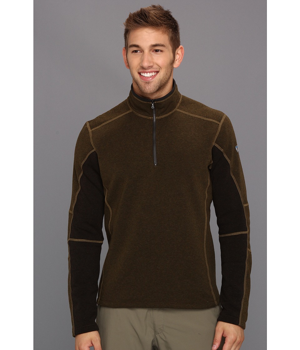 Kuhl - Revel 1/4 Zip (Olive/Charcoal) Men's Sweater