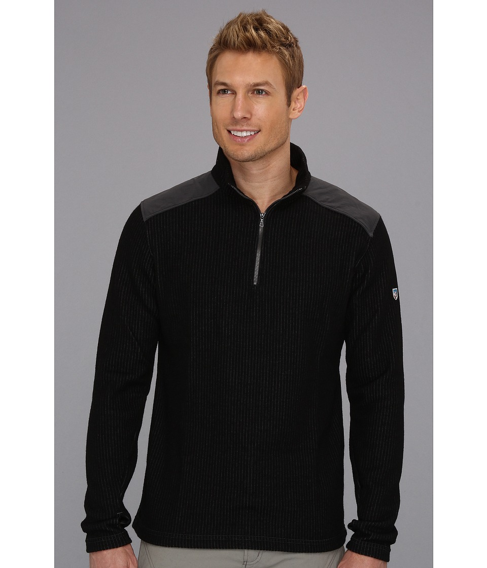 Kuhl - Rival 1/4 Zip (Jet Black) Men's Sweater