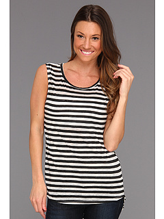 SALE! $16.99 - Save $41 on Free People All About Stripes Muscle Tee (Ivory Combo) Apparel - 70.71% OFF $58.00
