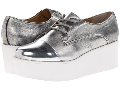 Steve Madden JJ Flash (Silver) Women's Lace up casual Shoes