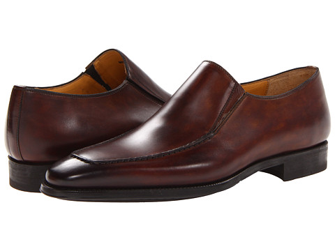 Magnanni - Leo (Catalux Mid-Brown) Men's Slip-on Dress Shoes