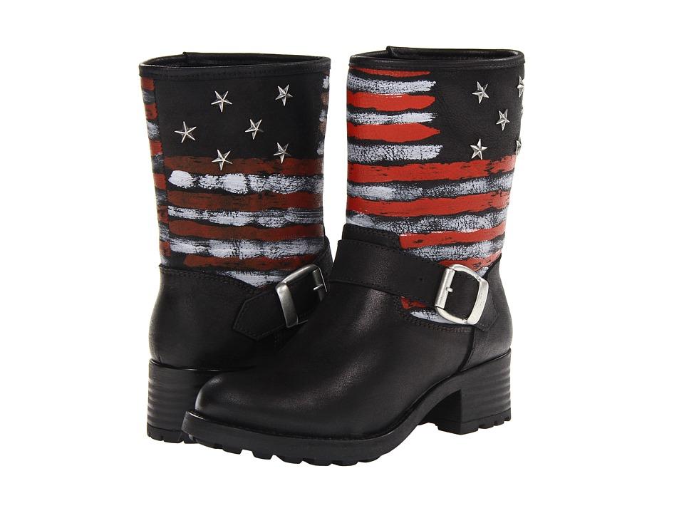 Eric Michael - Star (Black) Women's Zip Boots