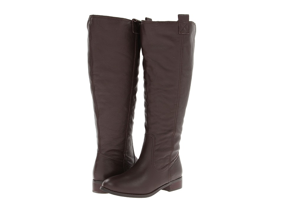 Lumiani International Collection - Lacey Extra Wide Calf (Brown Pebble Calf) Women