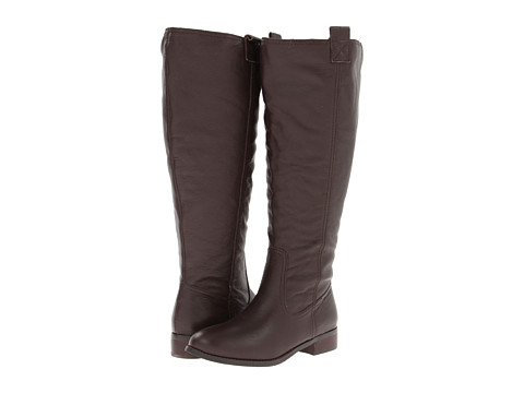 Lumiani International Collection - Lacey Extra Wide Calf (Brown Pebble Calf) Women's Wide Shaft Boots