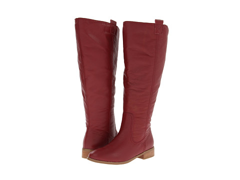 Lumiani International Collection - Lacey Extra Wide Calf (Red Pebble Calf) Women's Wide Shaft Boots