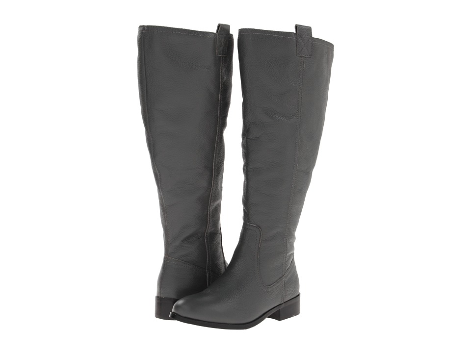 Lumiani International Collection - Lacey Extra Wide Calf (Grey Pebble Calf) Women's Wide Shaft Boots
