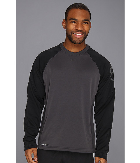 Nike - Baseball Therma-Fit Crew (Anthracite/Black) Men's Workout