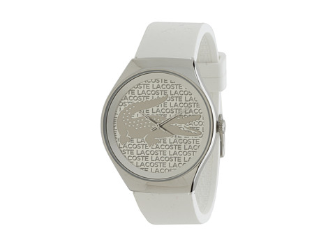 Lacoste - 2000785 Valencia Stainless Steel Case Quartz Movement Watch (Silver) Analog Watches