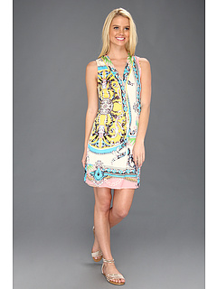 SALE! $91.99 - Save $212 on Hale Bob Butterfly Beat V Neck Dress (Pink) Apparel - 69.74% OFF $304.00