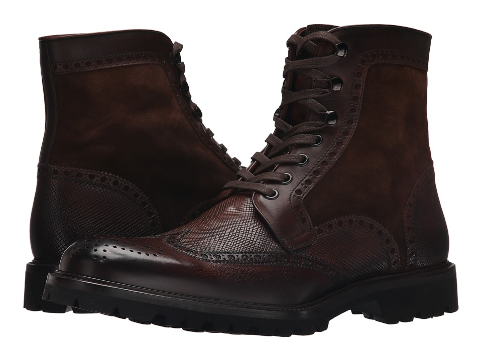 Magnanni - Enzo (Wellinton Mid-Brown/Wellington Stamp Mid-Brown) Men's Lace-up Boots