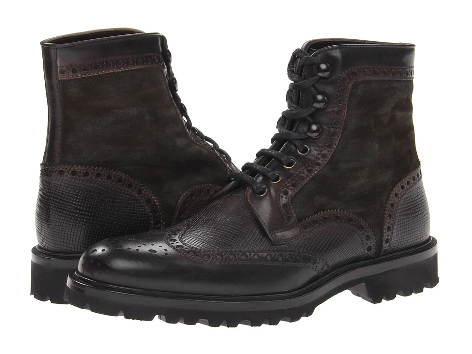 Magnanni - Enzo (Wellington Gris/Wellinton Stamp Gris/Crostabath Gris) Men's Lace-up Boots