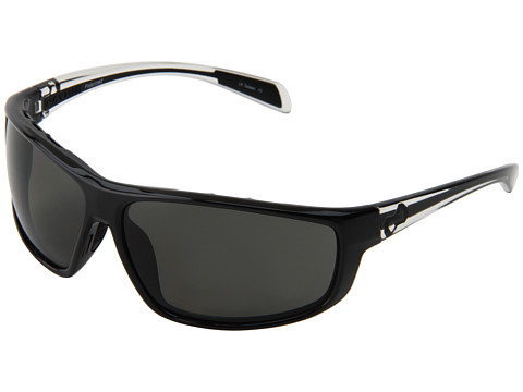 Native Eyewear - Bigfork (Iron Front/Crystal Temple/Black Cushion/Gray Reflex Lens) Plastic Frame Sport Sunglasses