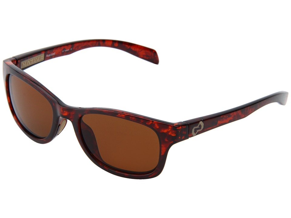 Native Eyewear - Highline (Maple Tort/Sand/Brown Lens) Athletic Performance Sport Sunglasses