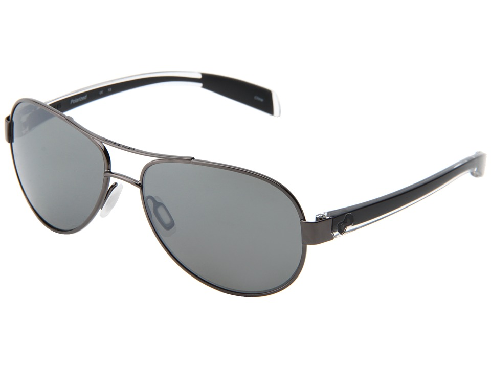 Native Eyewear - Haskill (Gunmetal/Crystal/Black/Silver Reflex Lens) Athletic Performance Sport Sunglasses