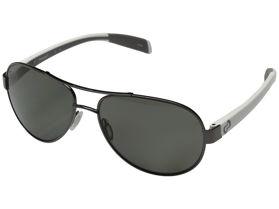 Native Eyewear - Haskill (Gunmetal/White/Grey/Gray Lens) Athletic Performance Sport Sunglasses