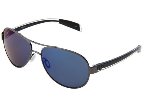 Native Eyewear - Haskill (Gunmetal/Crystal/Black/Blue Reflex Lens) Athletic Performance Sport Sunglasses