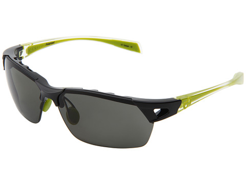 Native Eyewear - Eastrim (Iron Fr/Crystal & Green Temple/Gray Lens) Plastic Frame Sport Sunglasses